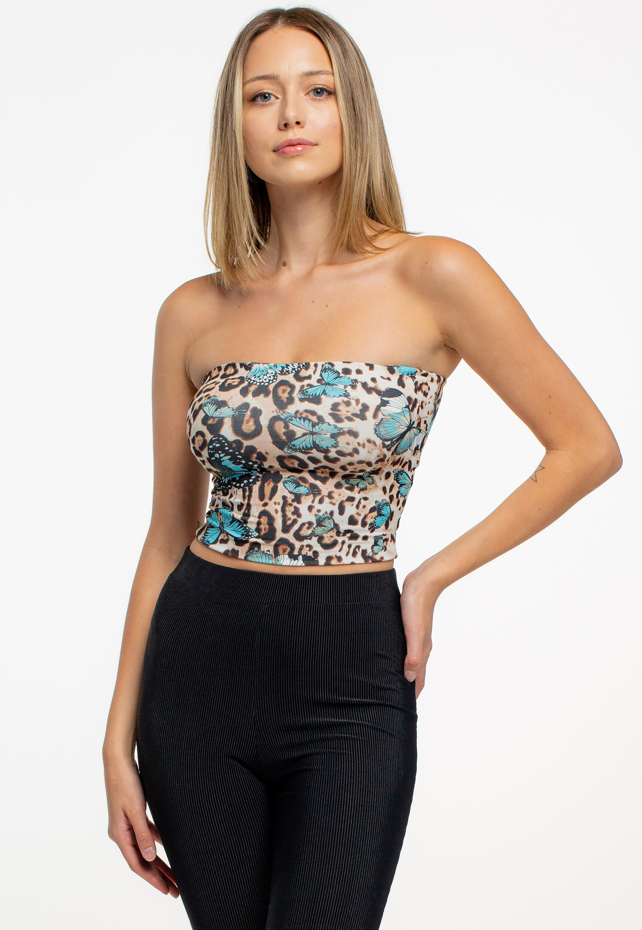 Butterfly Graphic Tube Top