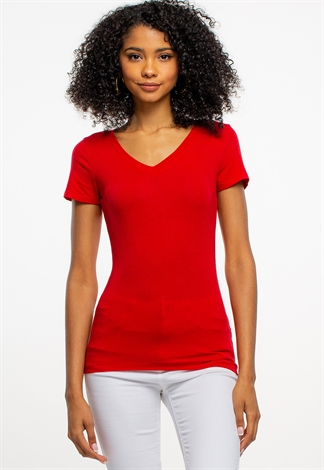 V-Neck Slim Fit Basic Tee