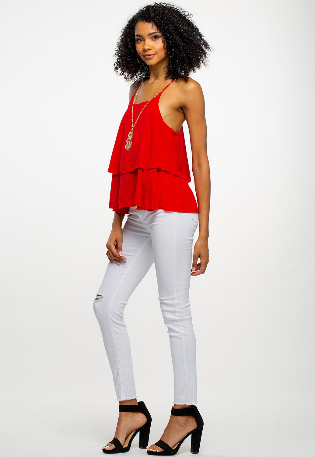 Flowy Cami Top With Necklace