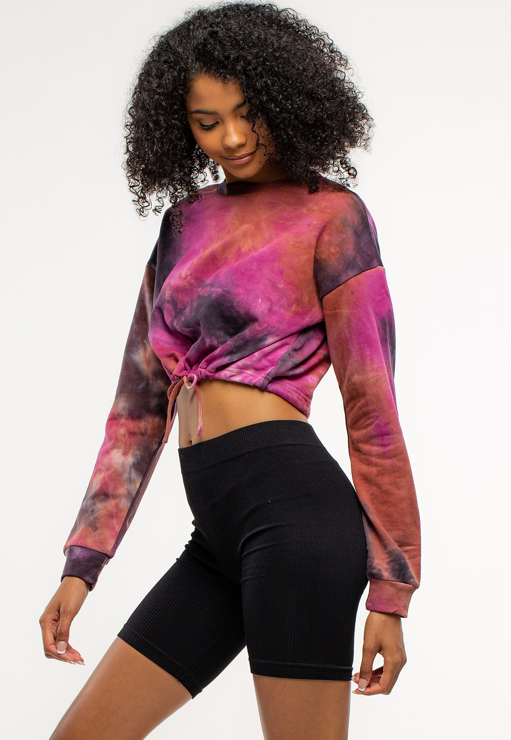 Tie-Dye Strappy Hoodie