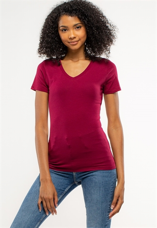 Basic V-Neck T-Shirts