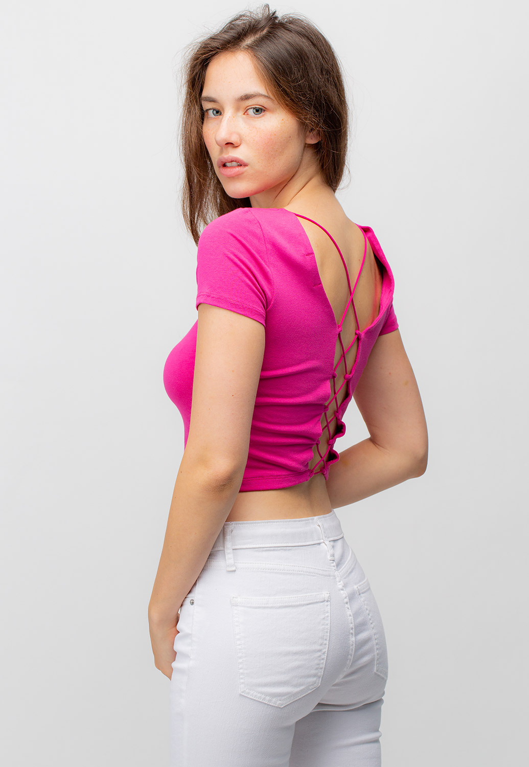 Criss Cross Back Crop Top