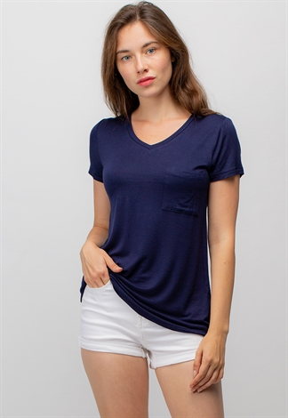 Basic V-Neck Pocket T Shirts