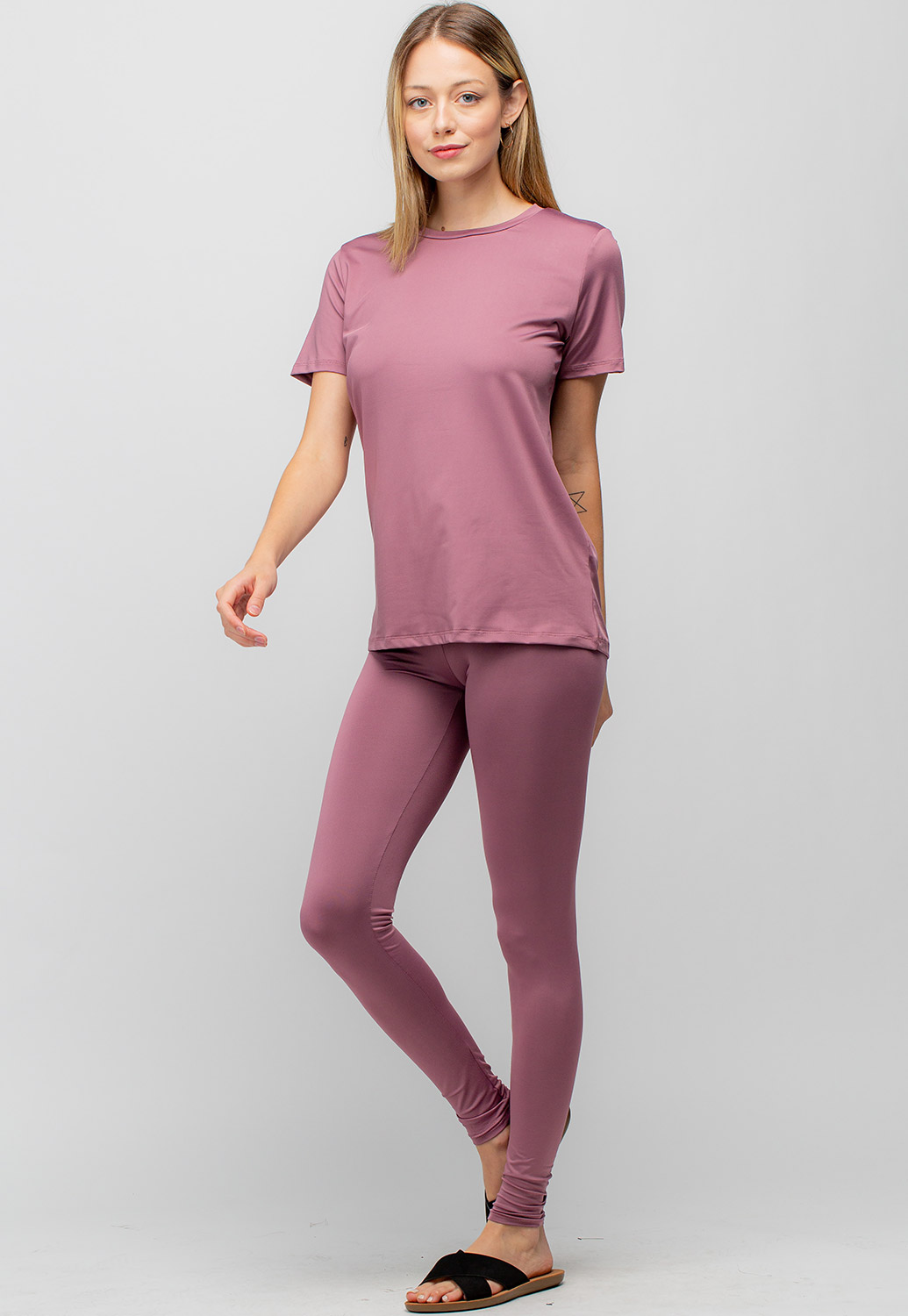 Basic Top & Long Leggings Activewear Set