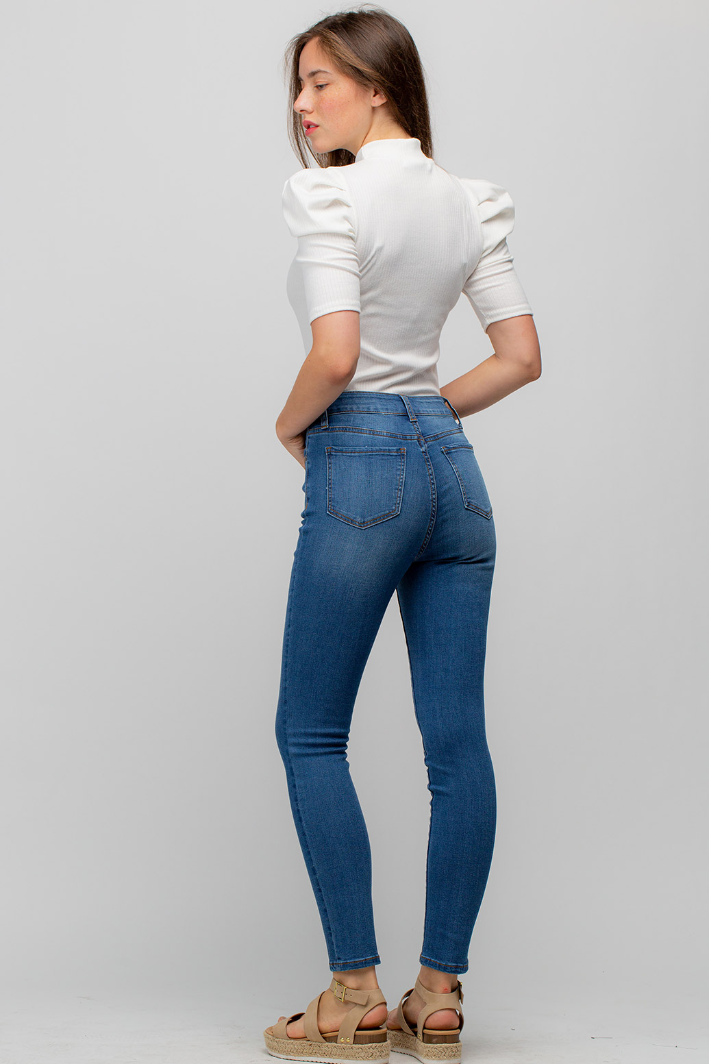 High-Rise Skinny Denim Jeans