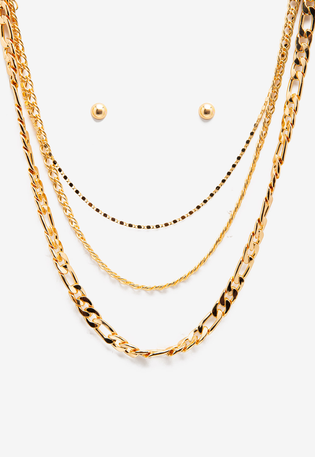 Layered Gold Chain Necklace