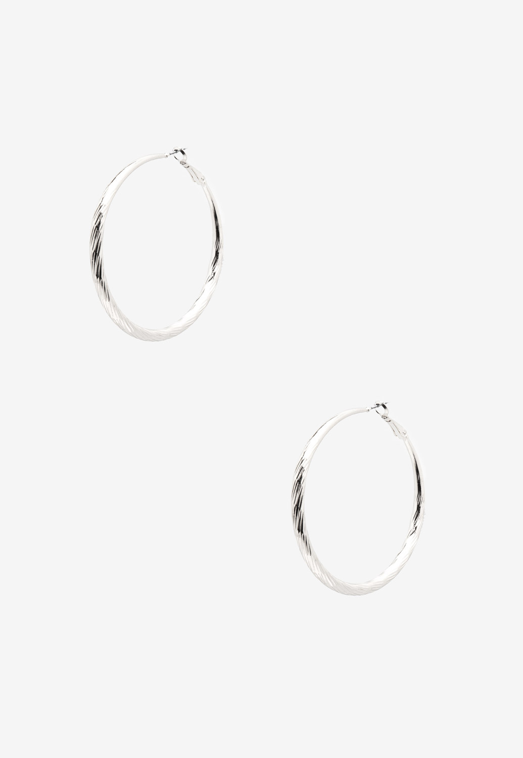 Textured Hoop Earrings