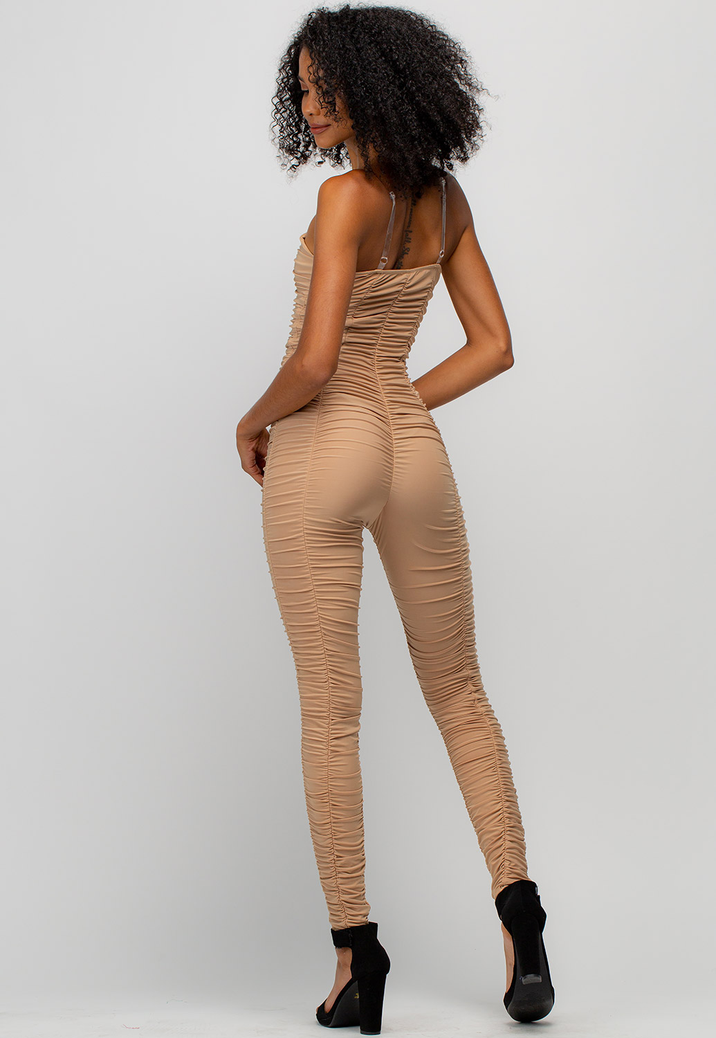 Ruched Fitted Jumpsuit
