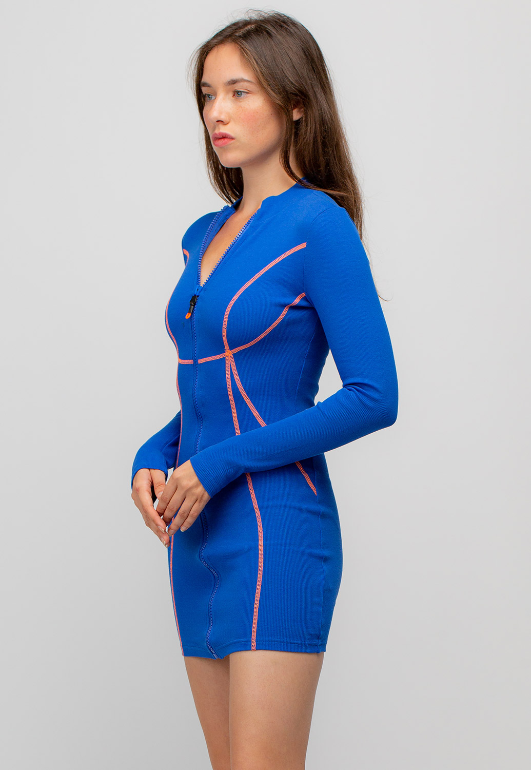 Zip-Up Fitted Jumpsuit