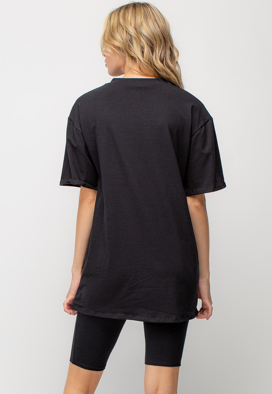 Oversized T-Shirt And Short Activewear Set