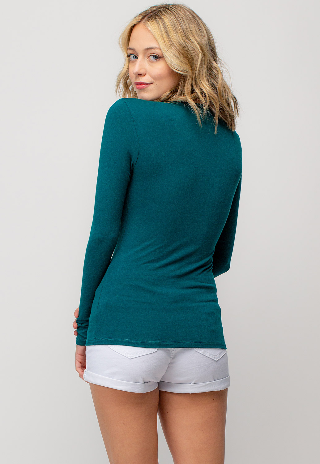 Basic V-Neck Long Sleeve Top