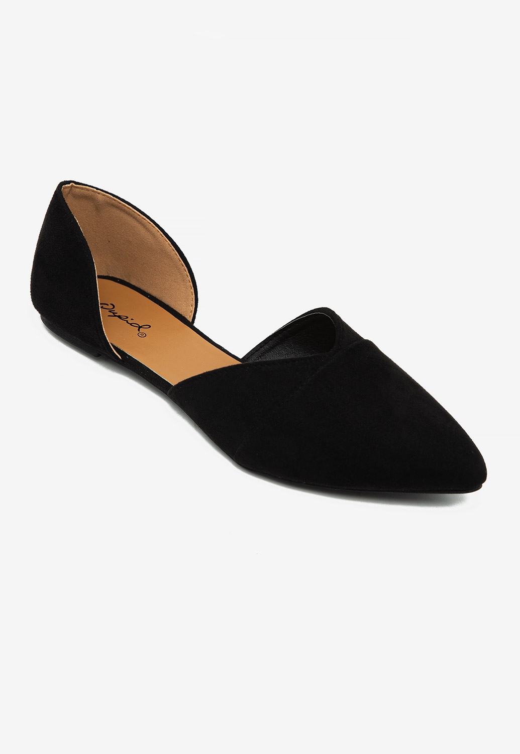 Pointed Toe Suede Flat Shoes