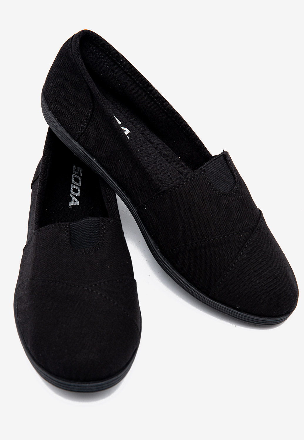 Round Toe Flexible Slip On Sneakers