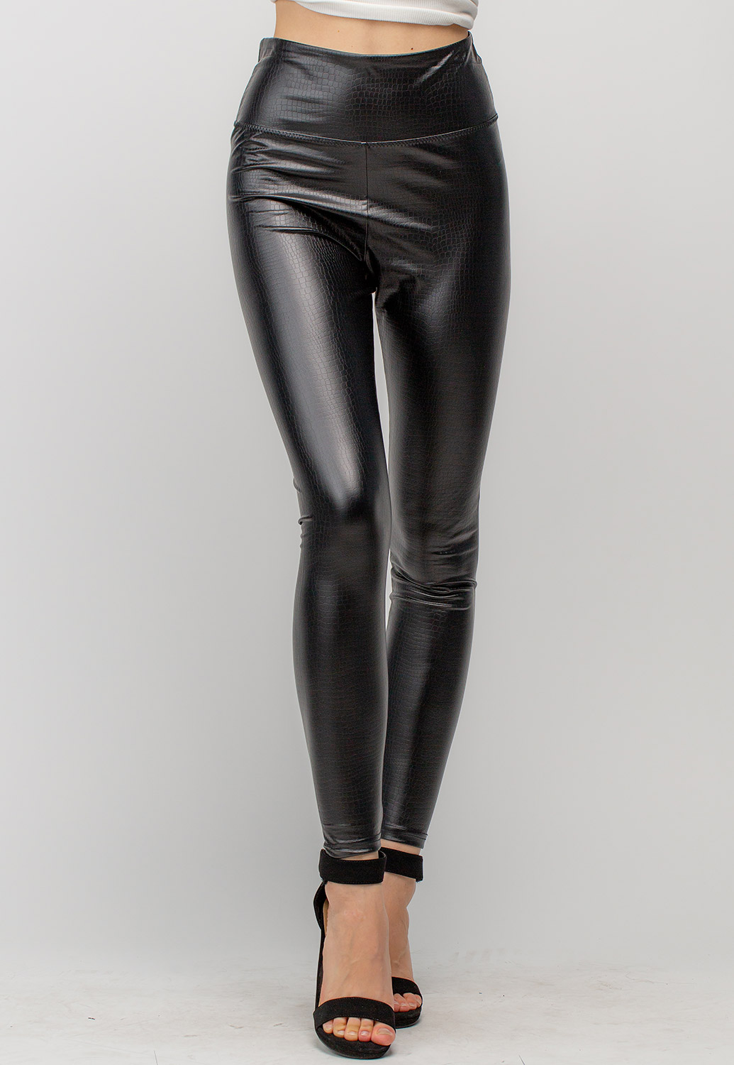 Stretchy Faux Leather Skinny Pants
