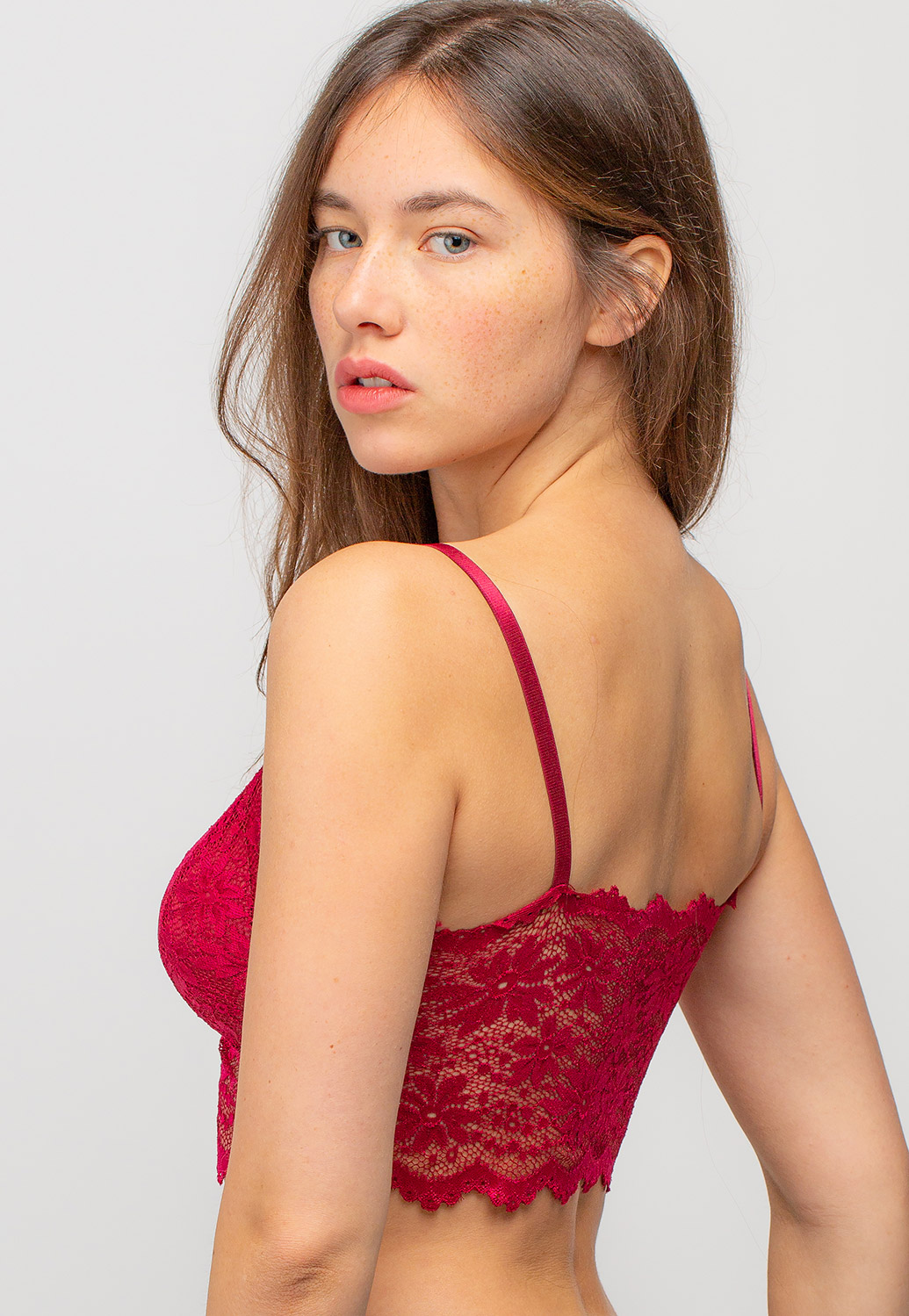 Adjustable Strap Floral Lace Bralettes