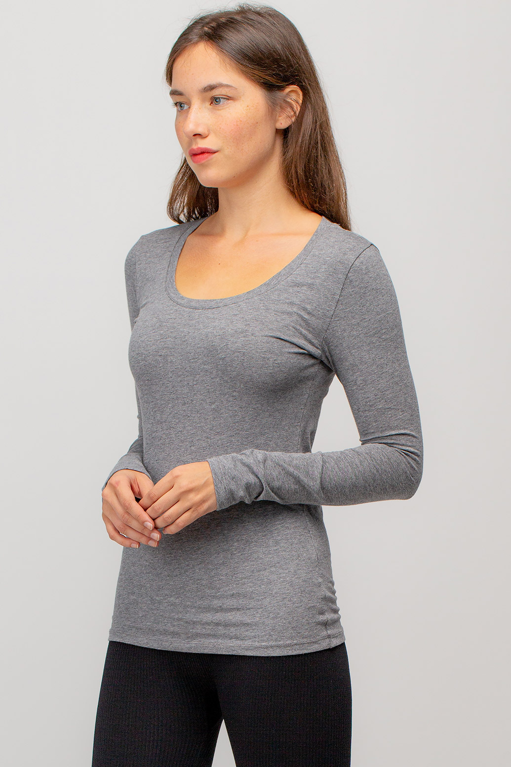 Basic Round Neck Long Sleeve Top