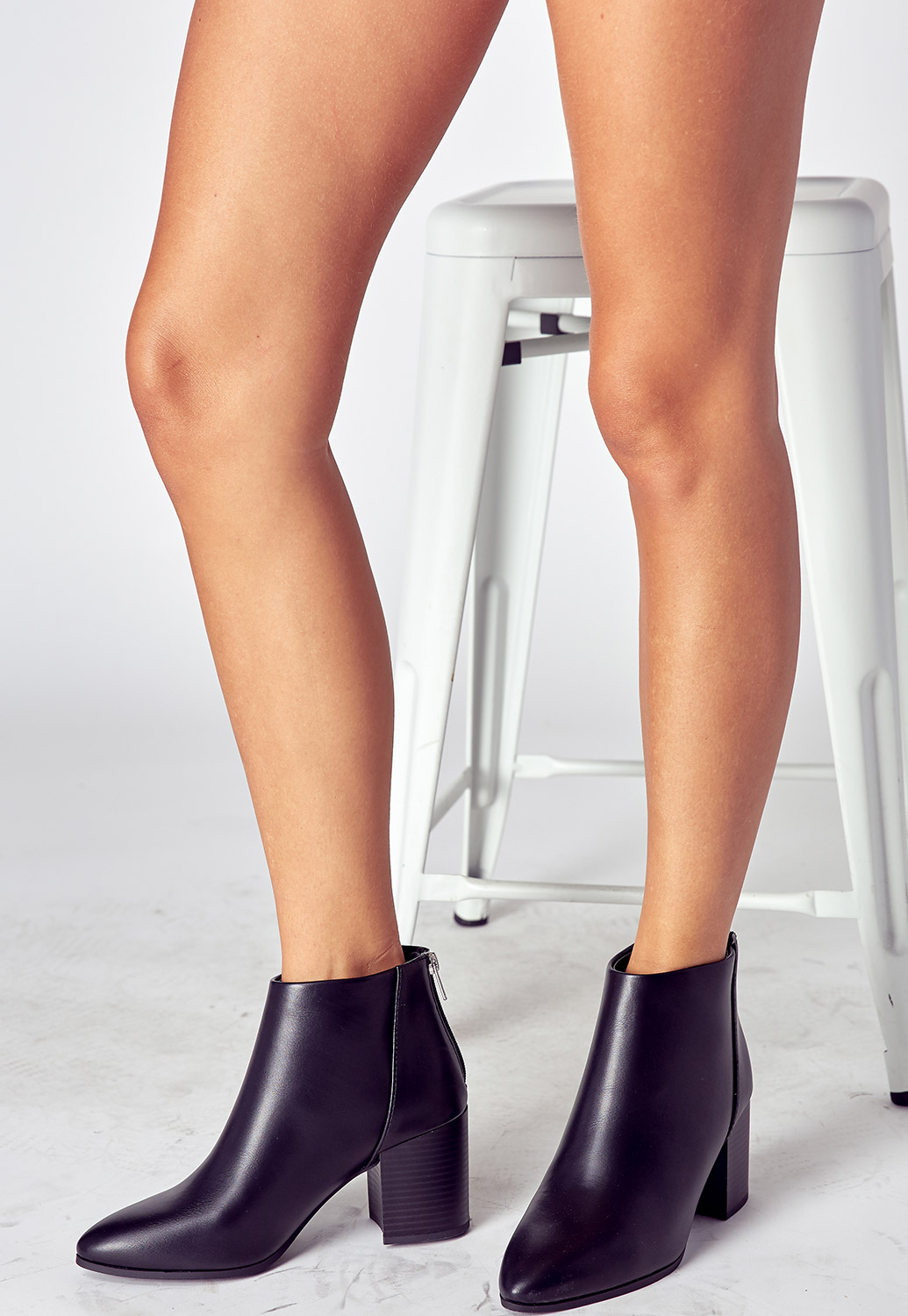 Pointed Ankle Heel Boots