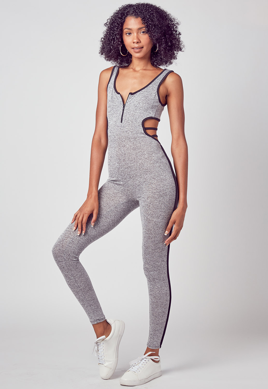 Cross Back Detailed Sporty Jumpsuit