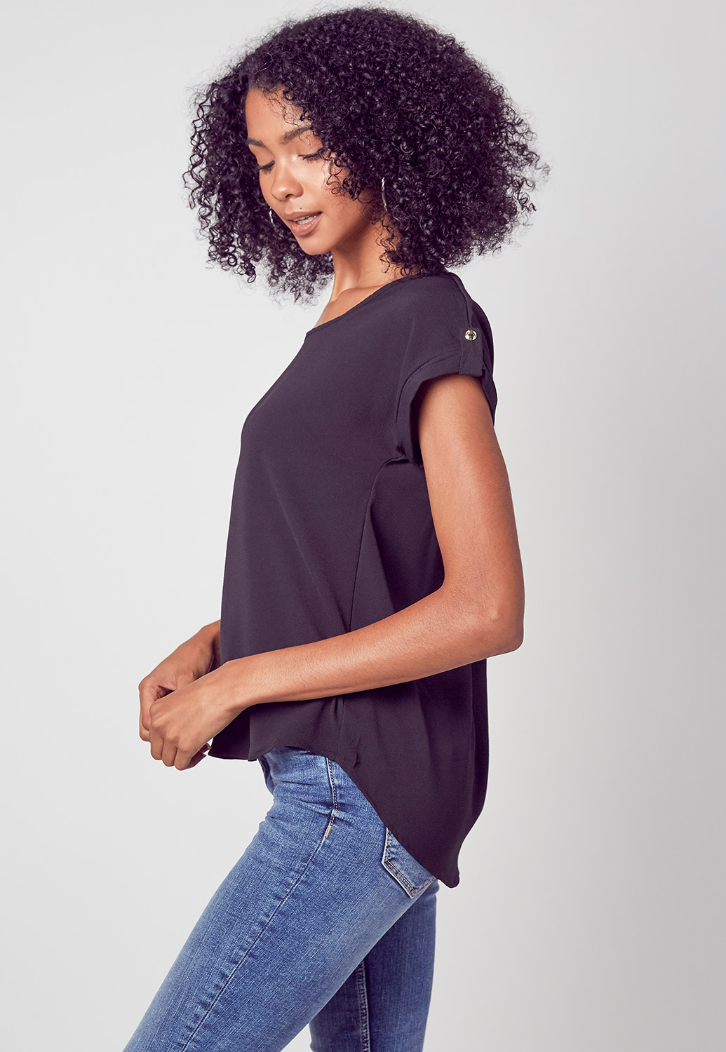 Short Sleeve Round Neck Summer Blouses