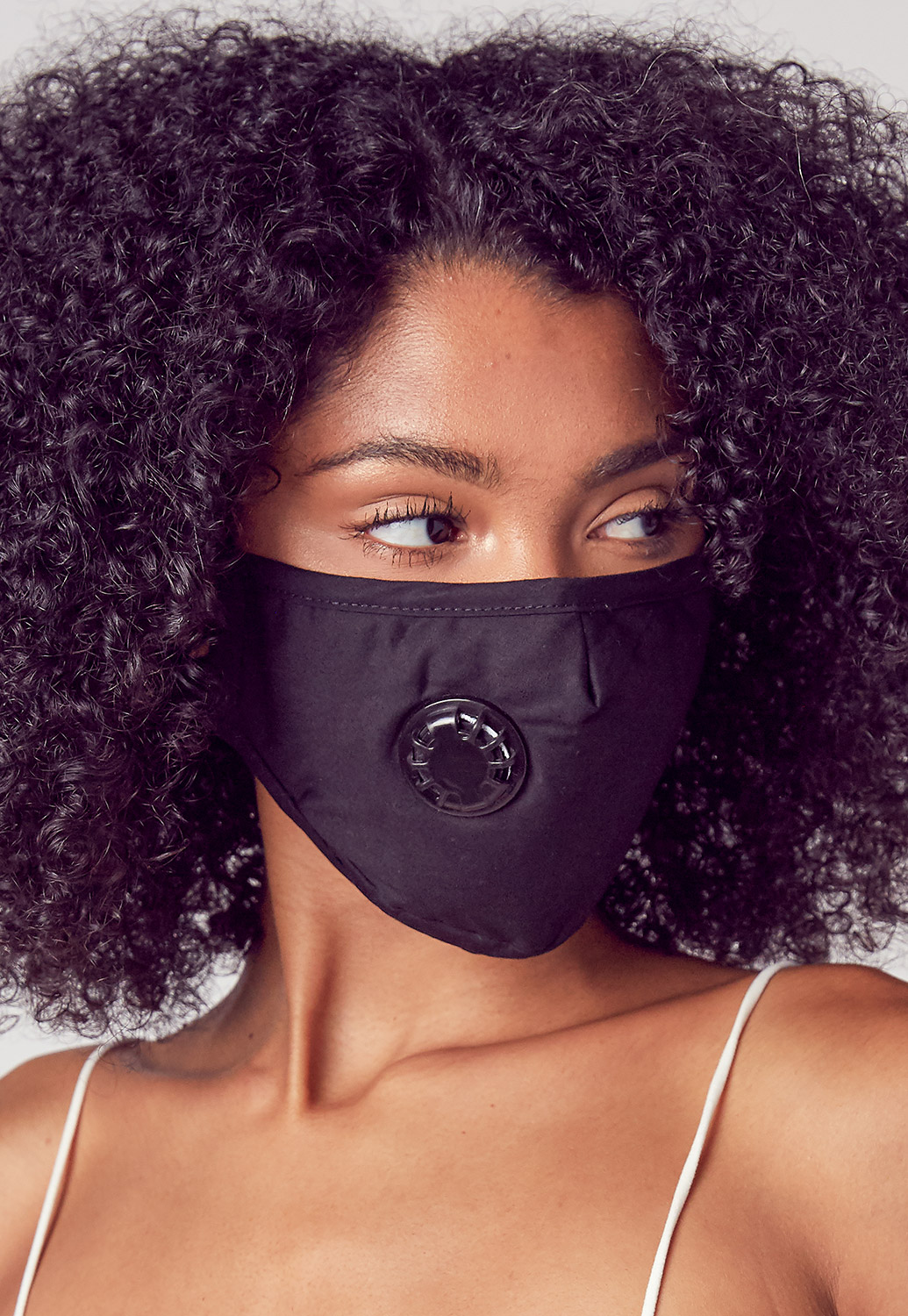 Air Filter Attached Black Mask