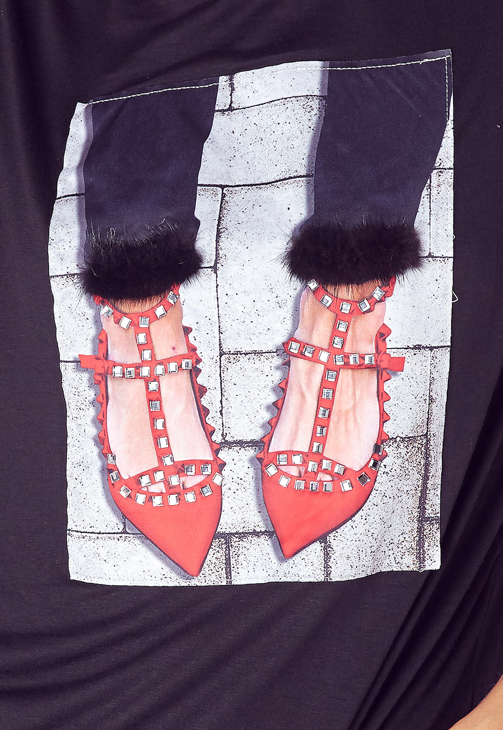 High Heel Graphic Print Tee