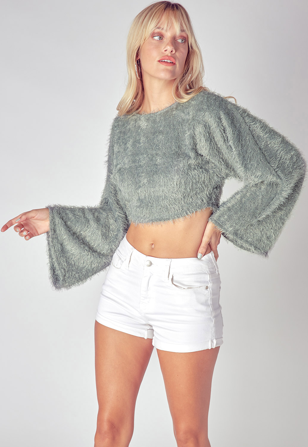 Fall Must-Have Wide-Sleeve Sweater Top