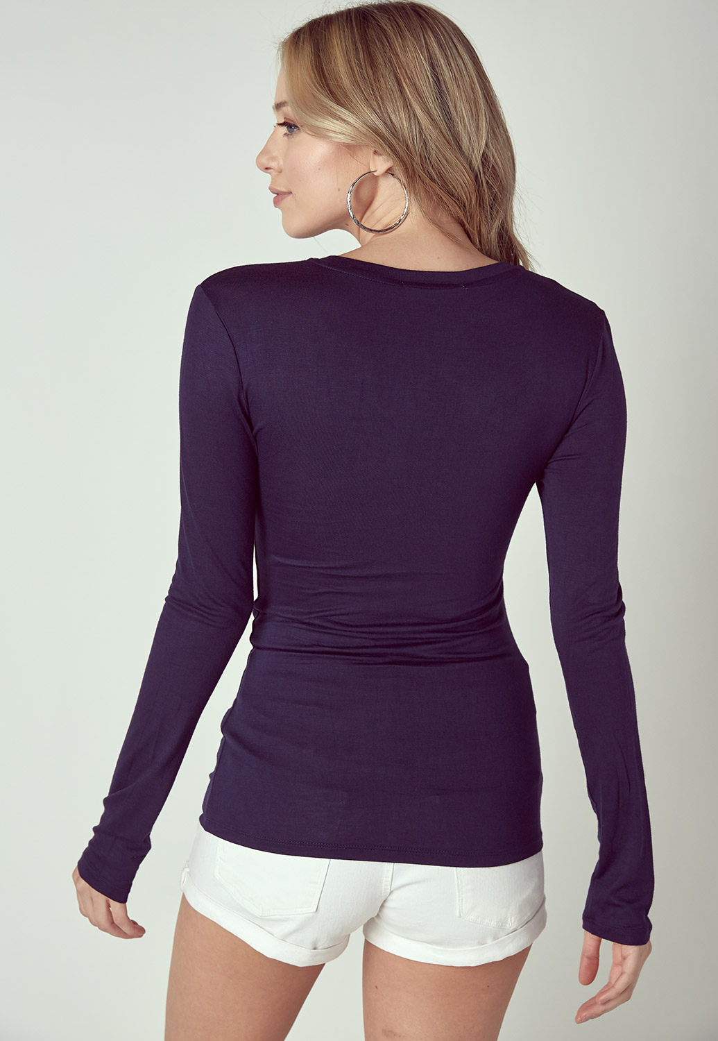 Basic V-Neck Long Sleeve Tee