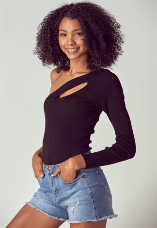 Cut Out Cozy Bodysuit