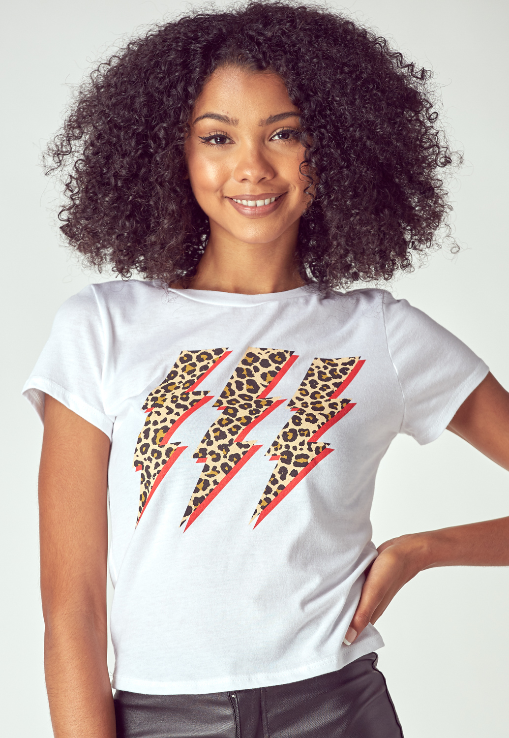 Leopard Lighting T Shirt
