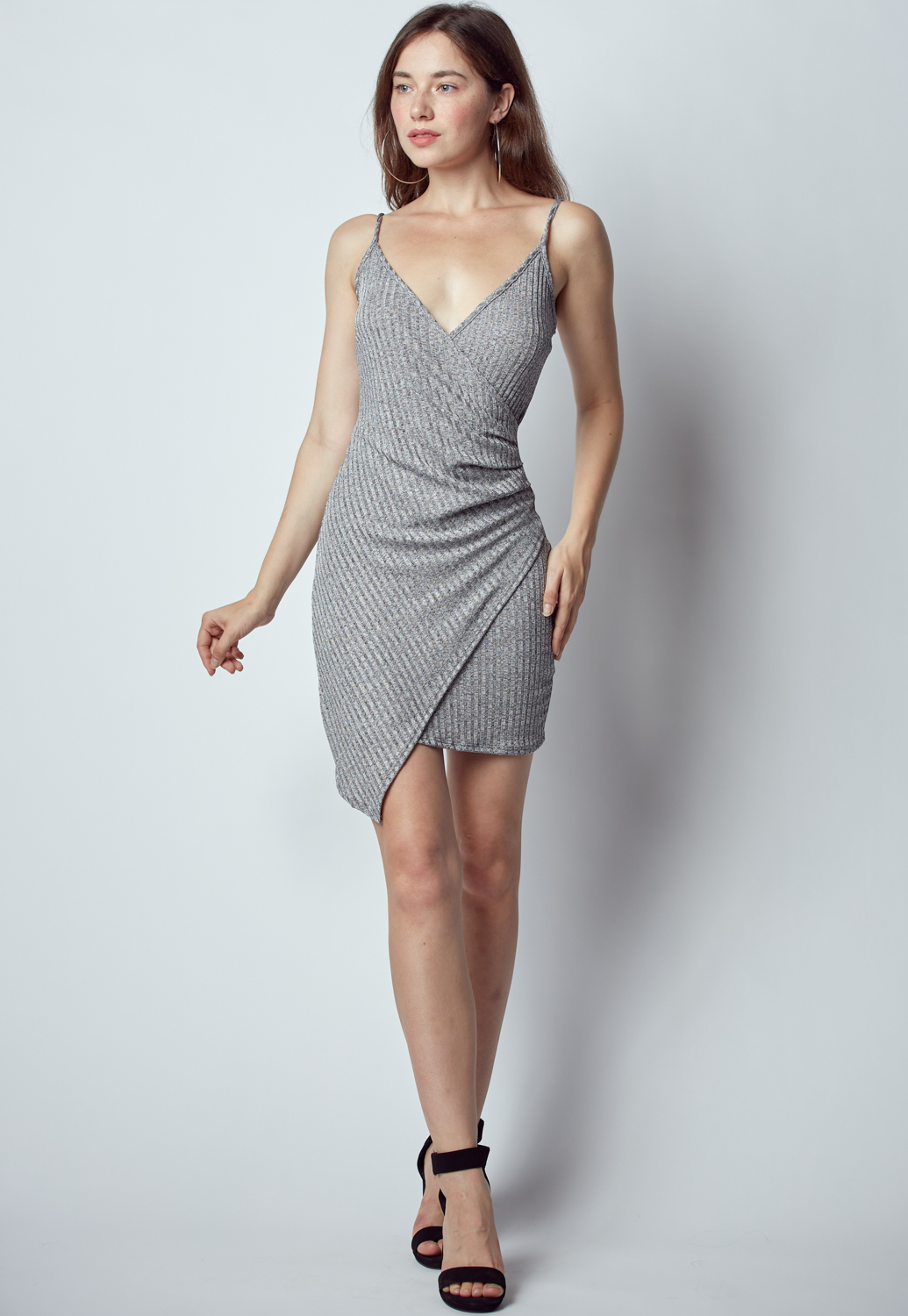 Overlap Mini Cocktail Dress