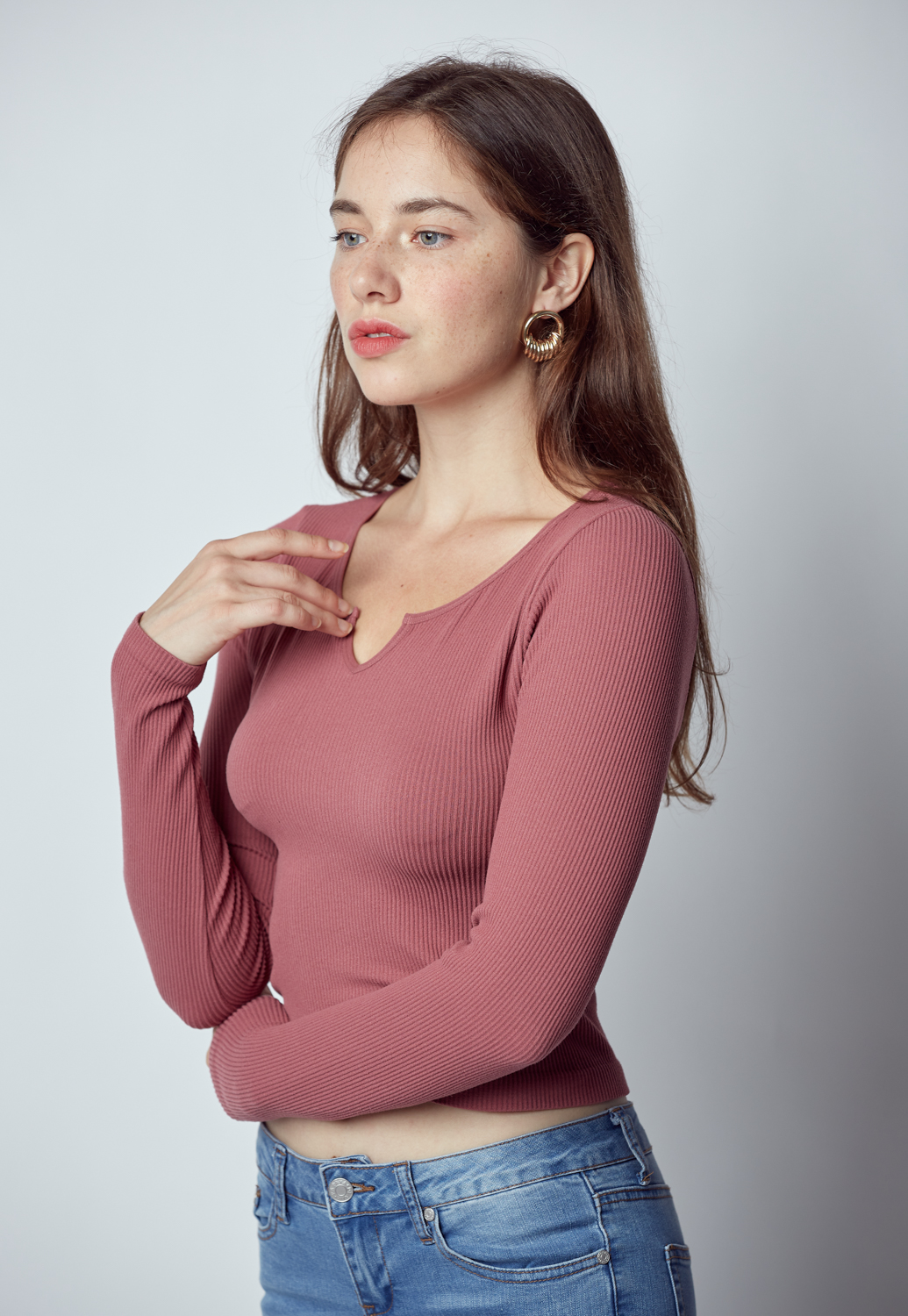 Basic Rib Knit Top