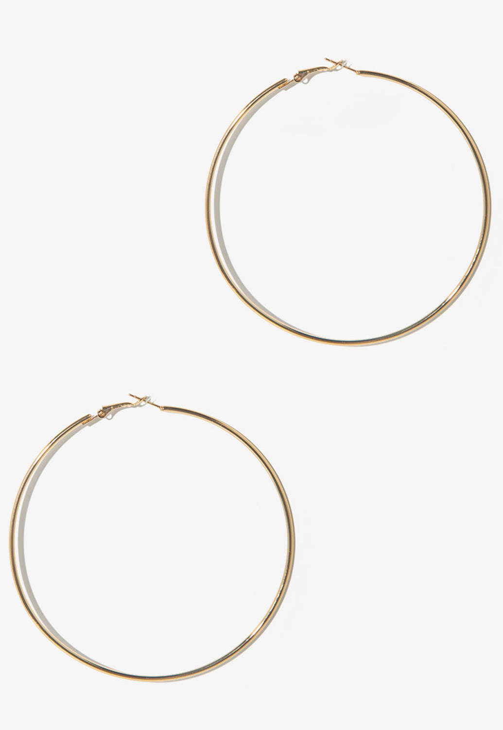 Oversized Round Hoop Earrings