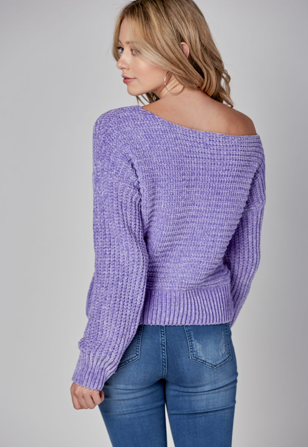 Velvet Yarn Sweater