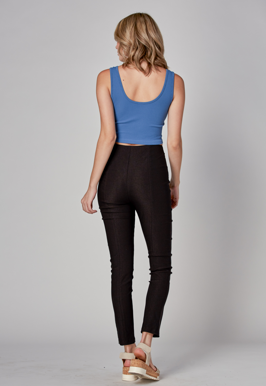 High Waist Front Zipper Pants