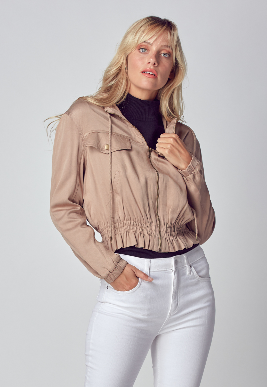 Casual Hooded Short Jacket