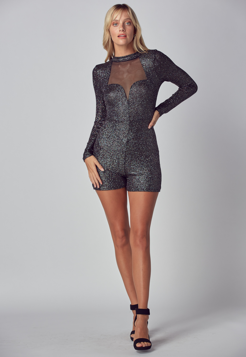 Shiny Metallic Romper