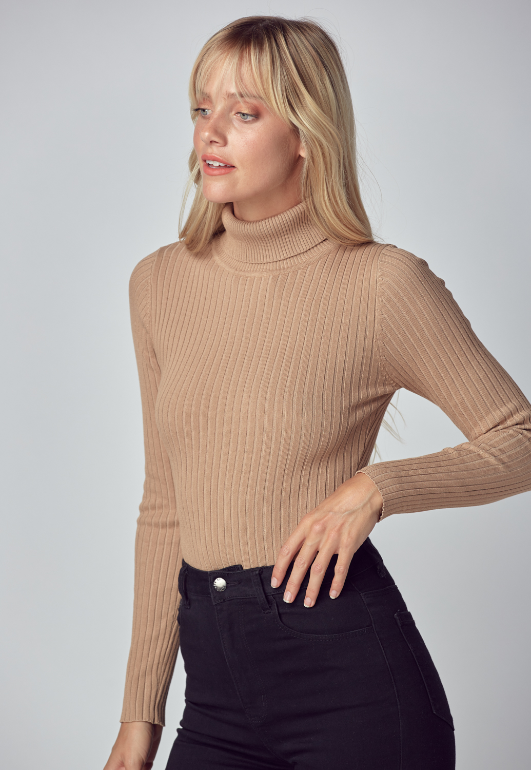 Turtleneck Bodysuit Sweater