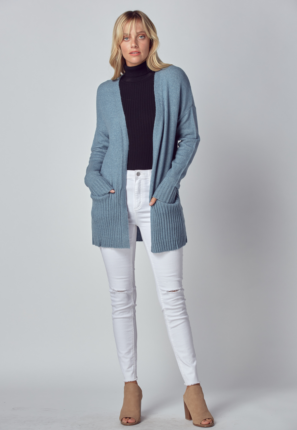 Basic Knit Sweater Long Cardigan