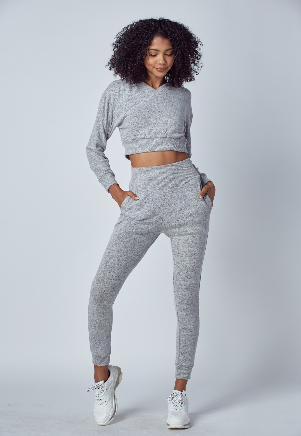 Heather Grey Comfortable Loungewear Set