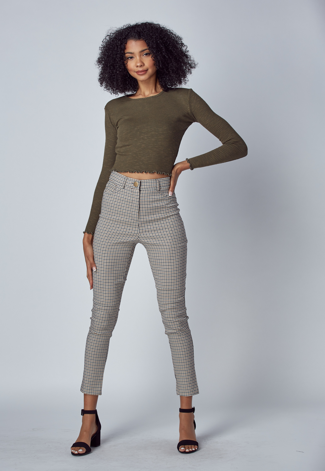 Fall Must Have Check Slim Pants