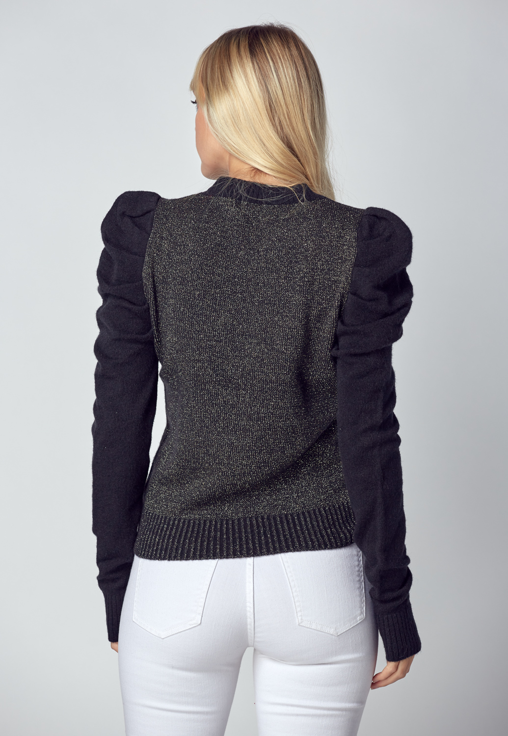 Puff Long Sleeve Knit Top