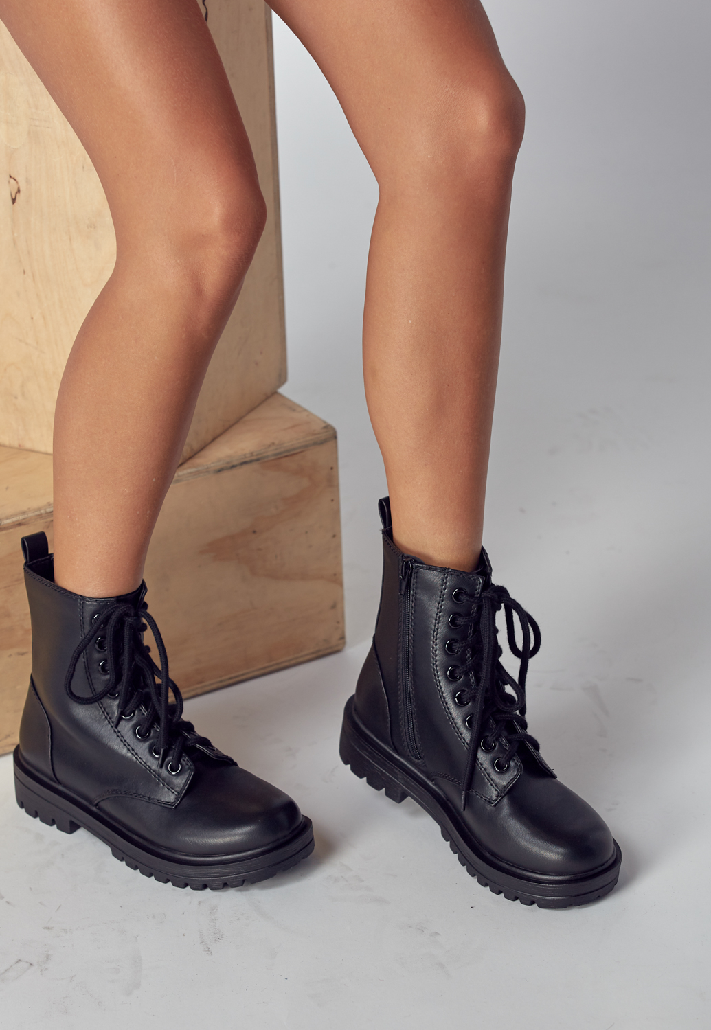 Lace-Up Ankle Boots