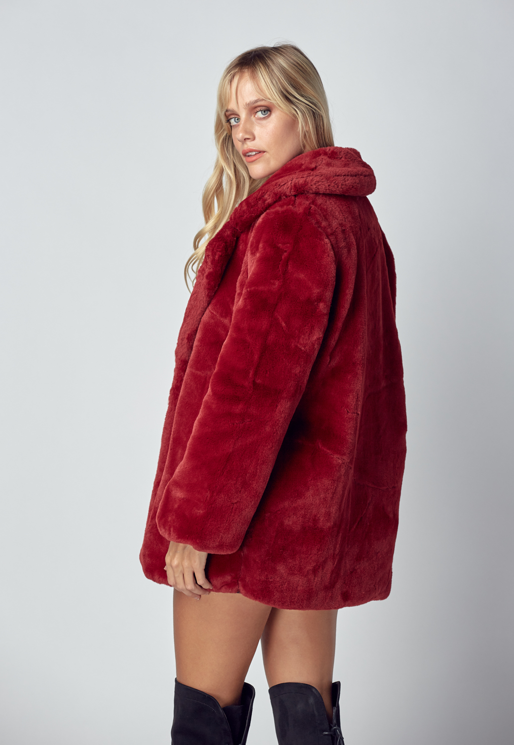 Soft Faux Fur Jacket Coat