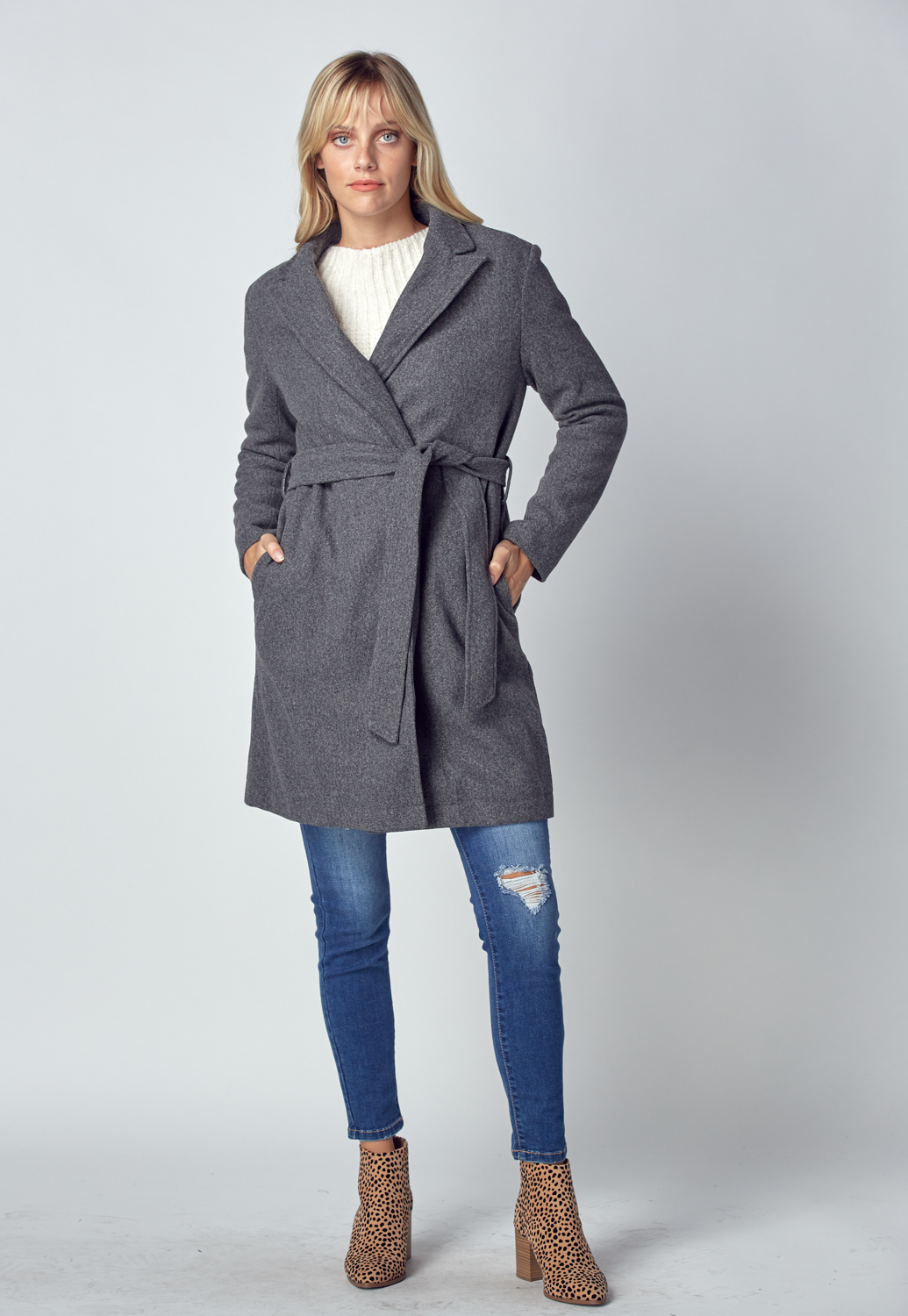 Knit Wrap Coat