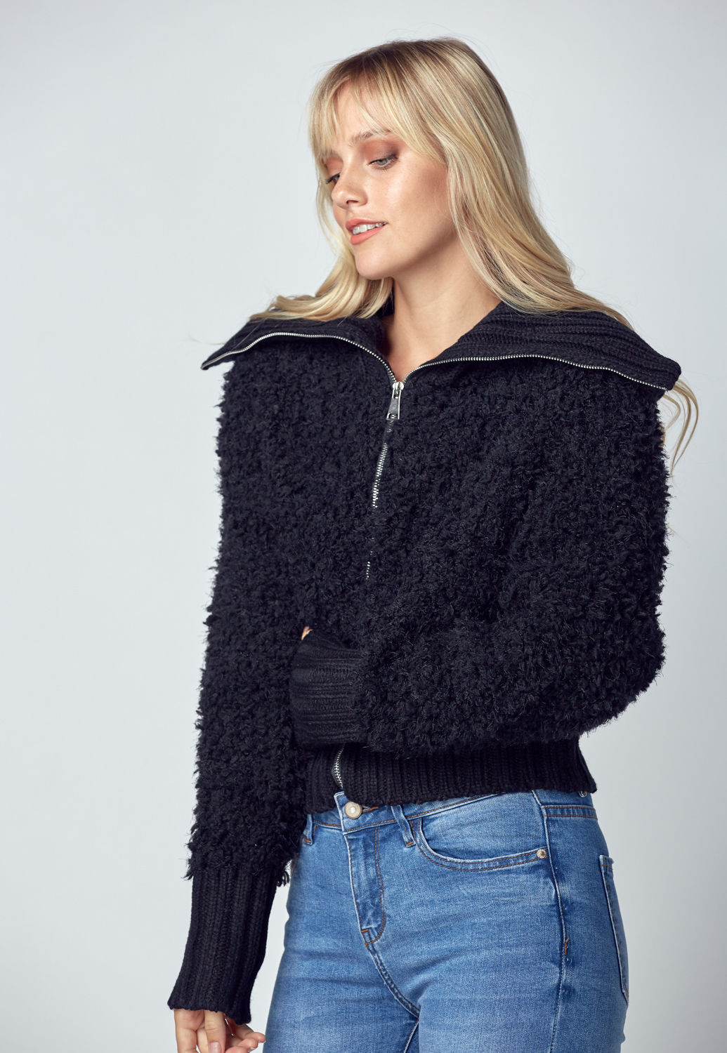 Fluffy Sweater Jacket