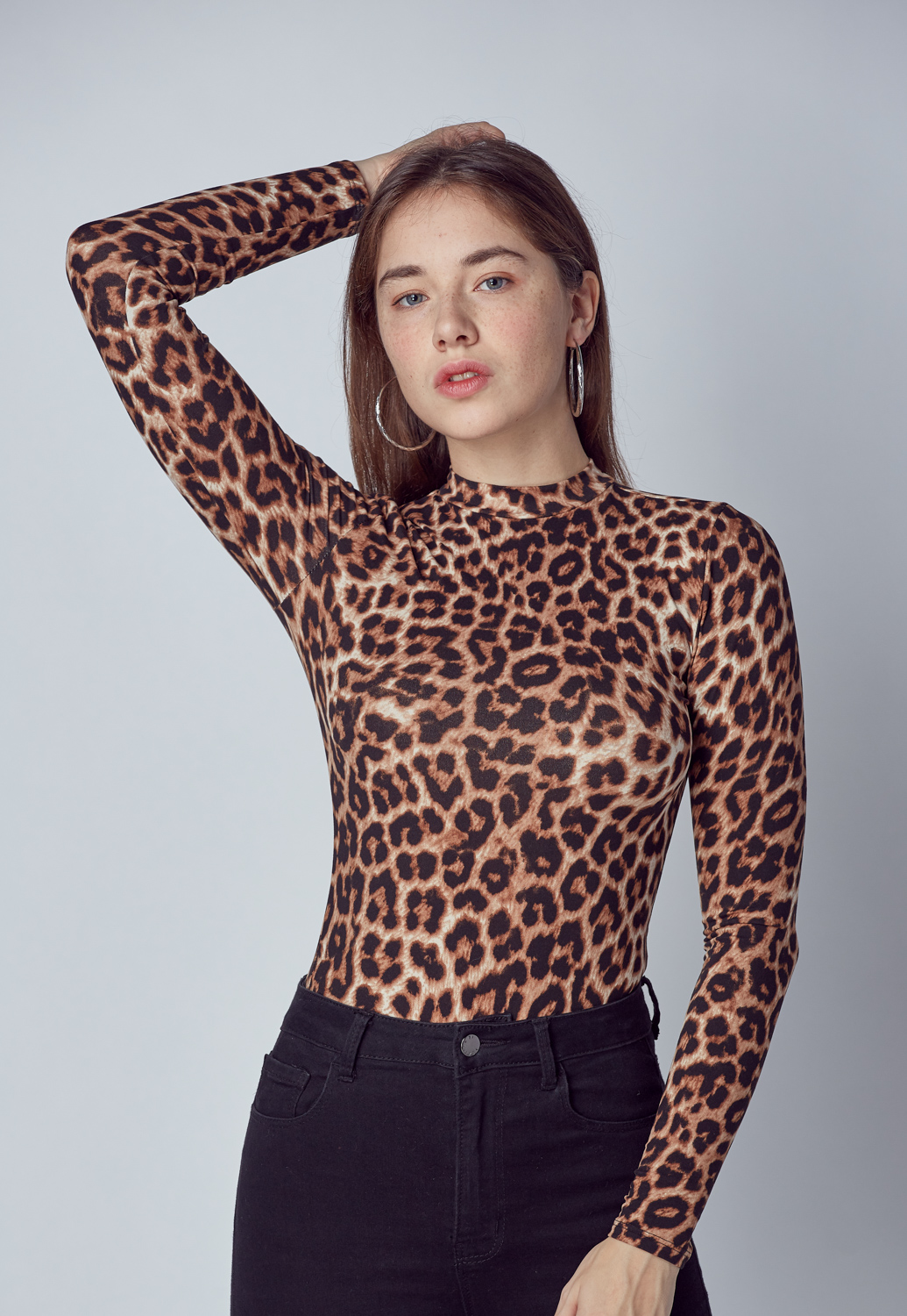 Patterned Long Sleeve Bodysuit