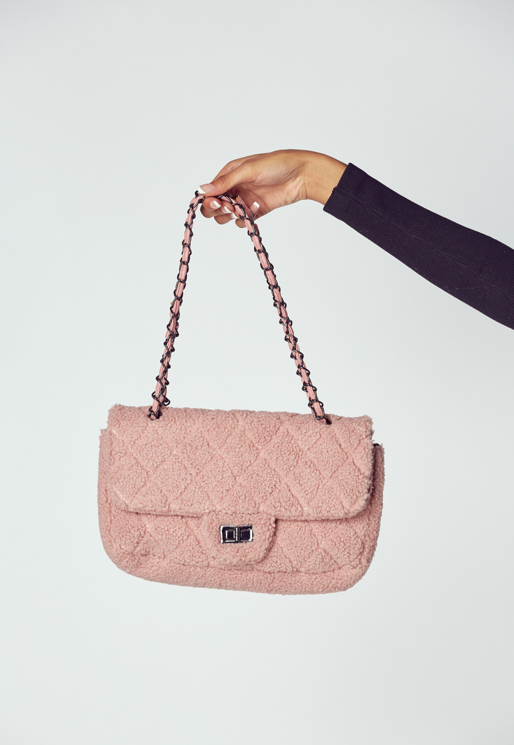 Quilted Fluffy Chain Bag