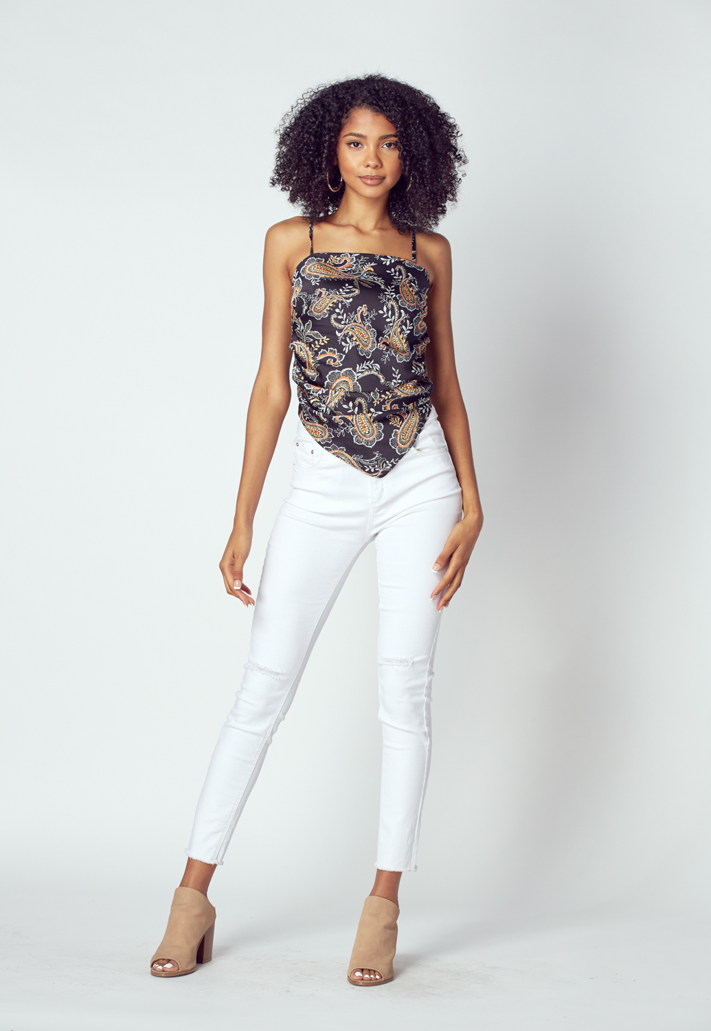 Graphic Print Cami Top