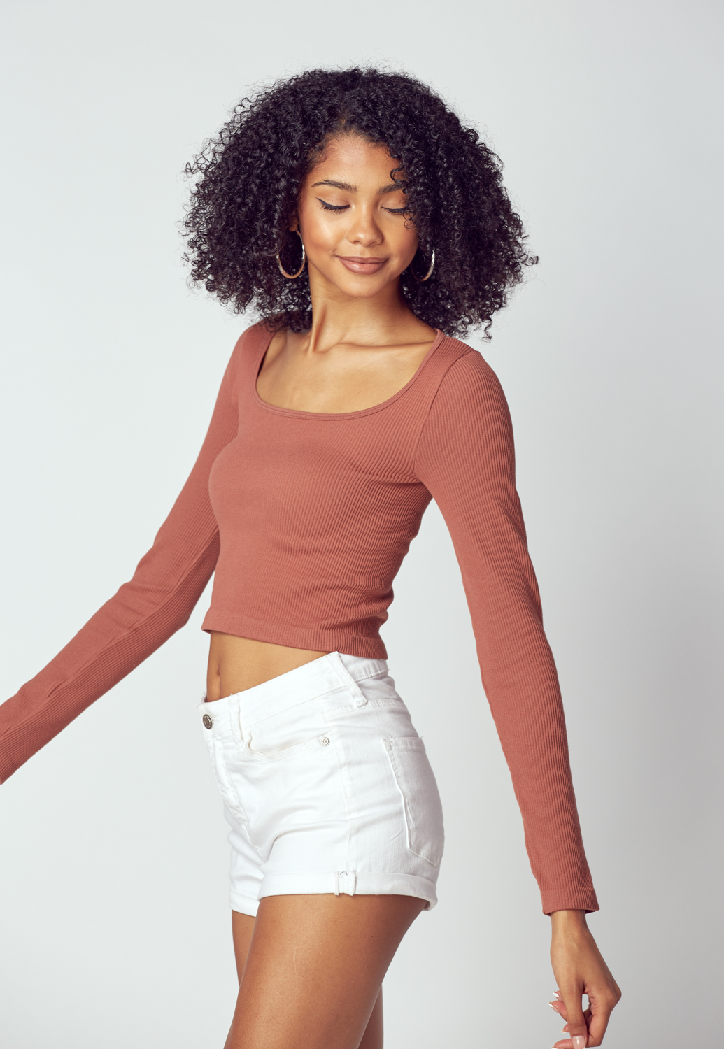 Square Neck Knit Top