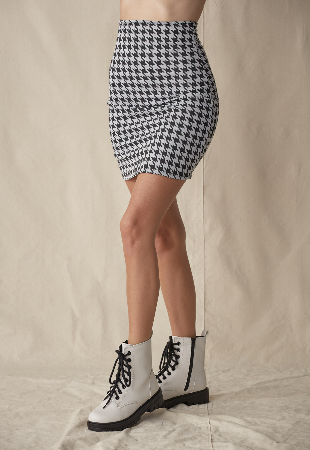 Houndstooth Highwaist Skirts